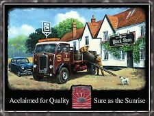 Vintage Albion Truck Classic Lorry Wagon Pub Beer Old Car Medium Metal/Tin Sign