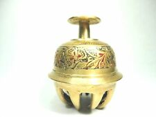 Vintage brass Bell / Elephant /ox Claw Bell nice etched & gold tone small bell