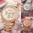 Luxury Fashion Geneva Women's Crystal Stainless Steel Quartz Analog Wrist Watch