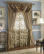 Hyatt ,Royal Velvet one sheer floral panel -- lana - Dark Gold