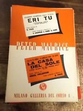"""SPARTITO J. DORELLI """"ERI TU"""" + THE ANIMALS """"LA CASA DEL SOLE"""""""