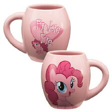 My Little Pony Pinkie Pie 18 oz Illustrated Pink Ceramic Oval Mug, NEW UNUSED