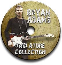 Bryan Adams Rock Guitar Tabs Tablaturas canción Libro Cd De Software