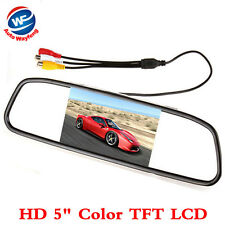 "HD 5"" Color TFT LCD Car Rear View Mirror Monitor 5.0 inch screen DC 12V"