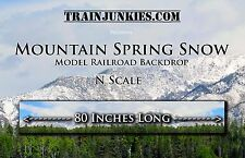 "TrainJunkies N Scale ""Mountain Spring Snow"" Backdrop 12x80"" C-10 Brand New"