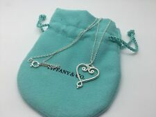 Tiffany & Co. Sterling Silver Paloma Picasso Goldoni Open Heart Pendant Necklace