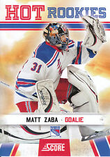 10/11 SCORE HOT ROOKIE RC #518 MATT ZABA RANGERS *3464