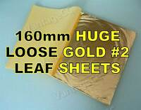 25x Gold #2 Loose Leaf Sheets in Booklets, 160mm! Gilding Crafts Scrapbooking