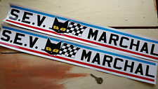 "SEV Marchal Car STICKERS 25"" Pair GT40 Renault Rally LeMans Rally Racing Sports"