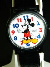 DISNEY MICKEY MOUSE WATCH RED /BLUE NUMERAL