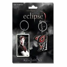 Twilight Jacob Black Wolf Logo Eclipse 2 Schlüsselanhänger Keychain Set NECA