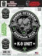 BN ZOMBIE DOG K9 UNIT DOG RESUE PAWS OUTBREAK GAS MASK THE WALKING DEAD STICKER