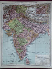 Landkarte von Indien, Ostindien I., Vorderindien, Brockhaus 1904
