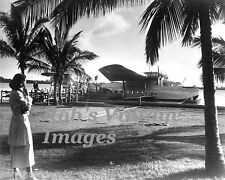 Pan Am Clipper Martin MB130 Airplane Flying Boat  1930s in Honolulu  photo