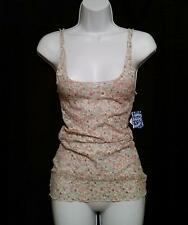 Intimately Free People Womens Top Small S Tank Cami Lace Floral Stretch NEW