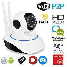 TELECAMERA IP CAM HD 720P WIRELESS LED IR LAN MOTORIZZATA WIFI RETE ONVIF