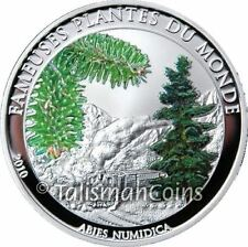 Benin 2010 Famous Plants Scented Christmas Pine + Locomotive 100 Francs Proof