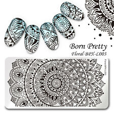 BORN PRETTY Rectangle Nail Art Stamping Template Image Plate Mandala BPX-L003