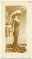 Fashion twentieth century Woman big hat Original carbon Reutlinger 1900c L333