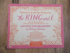 The King and I, Piano arrangement Selections from the Production.1956