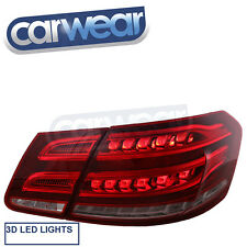 MERCEDES BENZ W212 E-CLASS SEDAN 09-13 CLEAR RED LED STYLE TAIL LIGHT AMG