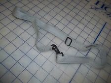 """adjustable USA made military strap grey cotton metal buckles clips 3/4"""" max 42"""""""