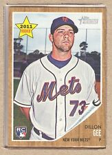 Dillon Gee 181 2011 Topps Heritage Rookie RC