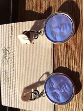 NEW KIRKS FOLLY SEAVIEW MOON SPARKLE LEVERBACK EARRINGS ST/ TANZANITE CRY