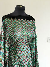 Stunning Mermaid Inspired Chevron Heavy Sequin on Mesh Dressmaking Fabric