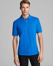 Burberry Brit Men Casual Short Sleeve Nova Polo Shirt Bright Opal Blue Medium M