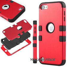 Hybrid Triple Layer Hard Case Cover w/ Silicone Shell Case for iPod Touch 6 5th