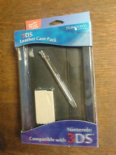 Nintendo 3DS * Blue Ocean LEATHER CASE stylus and cloth  * NEW