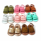 Long Tassel paragraph soled sandals Summer baby shoes soft soled baby sandals