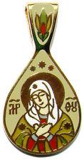 Pendentif la Vierge Marie Bijou Chrétien, Pendentif religieux orthodoxe St Marie
