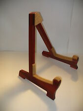 Solid Padauk Folding Wooden Acoustic Guitar Stand