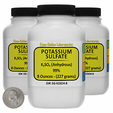 Potassium Sulfate [K2SO4] 99% Reagent Grade Crystals 1.5 Lb in Three Bottles USA