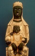 Black Madonna of Montserrat Virgin Mary with Child Statue Figure #BMM