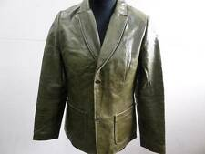 "WOMENS GAP LEATHER JACKET SIZE L 40"" OLIVE GREEN VGC SKU NO Z316"