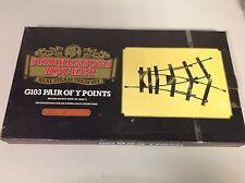 Hornby Stephensons Rocket Live Steam Track G103 Pair Of Y Points Vintage JB205