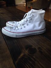 White Converse Chuck Taylor All Star High Top Sneakers Mens Size 11 Women's 13