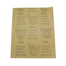 3 Sheets 2000 Grit Sandpaper Sand Paper Furniture Sanding Finishing Accessories
