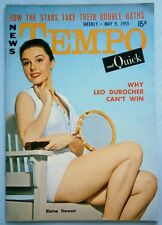 May 1955 TEMPO Magazine with Elaine Stewart Cover