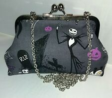 NIGHTMARE BEFORE CHRISTMAS JACK SKELLINGTON HANDMADE HANDBAG CLUTCH PROM PARTY