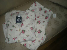 NWT Chaps Ralph Lauren Cream Colored with Pink Floral Print Pajamas - Size XL