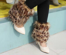 Boot Cuff Fluffy Soft Furry  Leg Warmers Boot Toppers Faux Fur