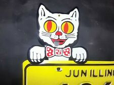 Felix cool cat topper mechanical license plate topper eyes move tongue jiggles