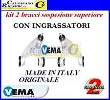 KIT 2 BRACCI SOSPENSIONE ANT SUPERIORE ALFA 147-156  MODIFICATI CON INGRASSATORI