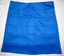 BLUE Knit Stretch Bodycon High Waist Fitted Slim Fit Hip Hugger Mini Skirt XS/S