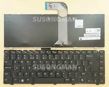 New UK Keyboard For Dell Inspiron 15R N5040 N5050 M5040 M5050 M521R Black Frame