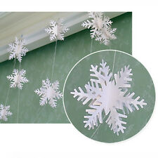 3D Snowflake Hanging Bunting Banner Garland Christmas Party Birthday Home Decor